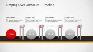 timeline template powerpoint obstacles powerpoint template x