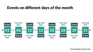 timeline template powerpoint pptx flat design timeline