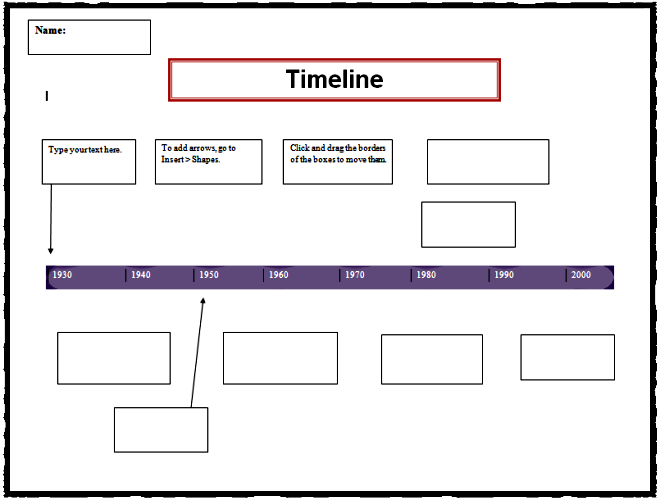 timeline in microsoft word