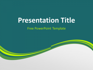 timelines for powerpoint green wave powerpoint template slide