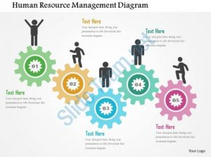 timelines for powerpoint human resource management diagram flat powerpoint design slide
