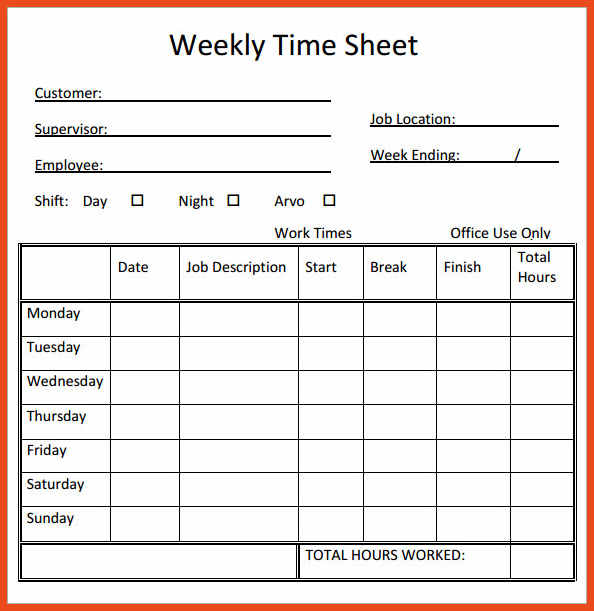 timesheet in excel