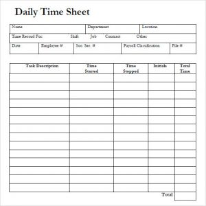 daily sign in sheet template