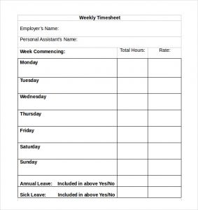 timesheet template free simple timesheet template download in ms word format