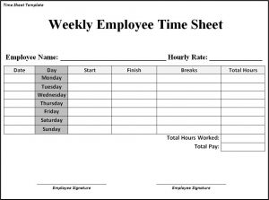 timesheet template free time sheet template