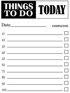to do list pdf