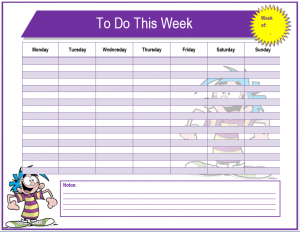 to do list template word weekly to do list template