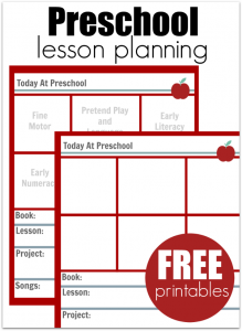 toddler lesson plan template preschool lesson plan free printables
