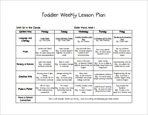 toddler lesson plans free toddler spring lesson plan free pdf template
