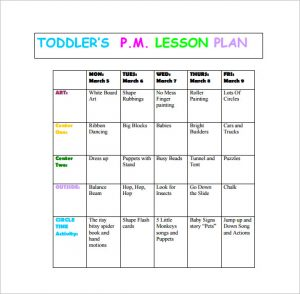 toddler lesson plans free toddlers pm lesson plan free pdf download