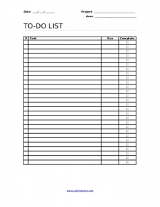 todo list pdf todo list