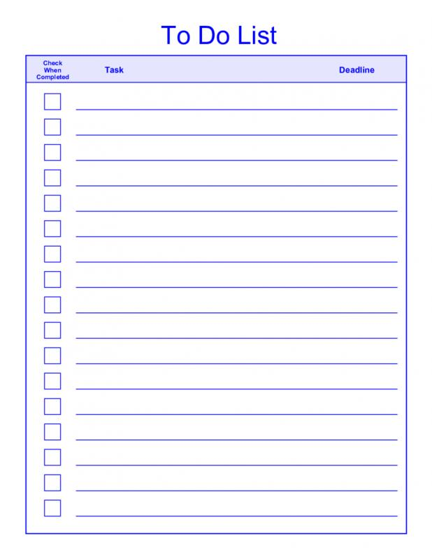 todo list template word