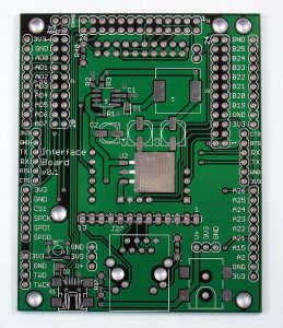 trading card design interface pcb top