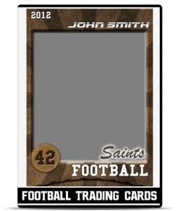 trading card template photoshop football trading card dvd
