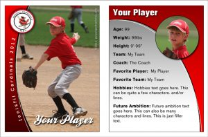 trading card template photoshop innisfil cardinals baseball trading card