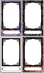 trading card template photoshop tarot card templates by fararden