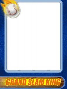trading card template word baseball card template word