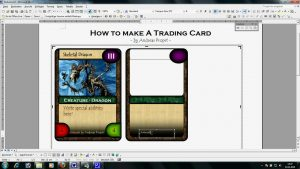 trading card template word maxresdefault