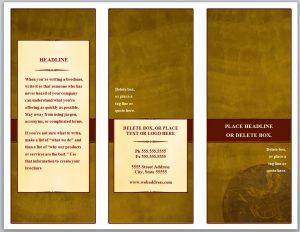 trading card template word tri fold brochure template qnbaur