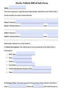 trailer bill of sale pdf alaska vehicle bill of sale