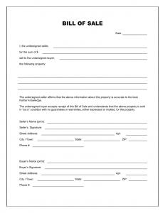 trailer bill of sale pdf blank bill of sale