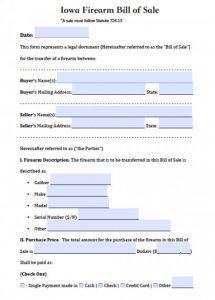 trailer bill of sale pdf iowa firearm bill of sale x