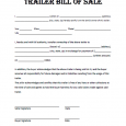trailer bill of sale trailer