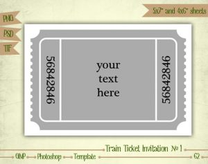 train ticket template il xn itbq