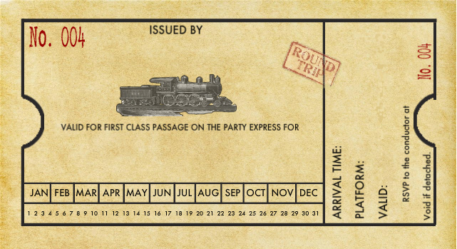 train ticket template