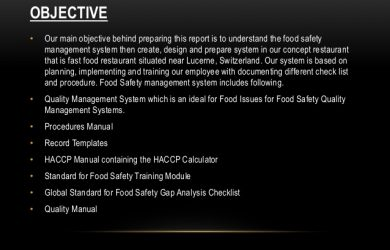training manual examples food safety management system for fast food chain