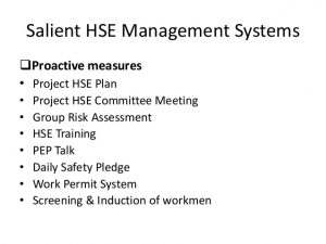 training manual examples health safety management system in indian construction