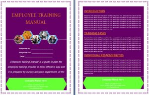 training manual template employee training manual