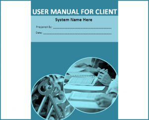 training manual template word user manual for client