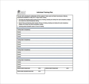 training plan template individual training plan free pdf template download