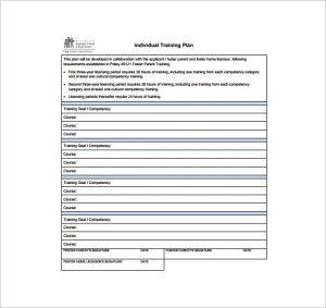 training plan template individual training plan free pdf template download