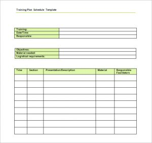 training plan template trainers advice training schedule template