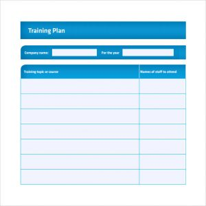 training plan template training plan template pdf