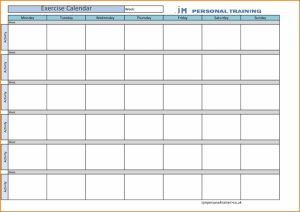 training calendar templates