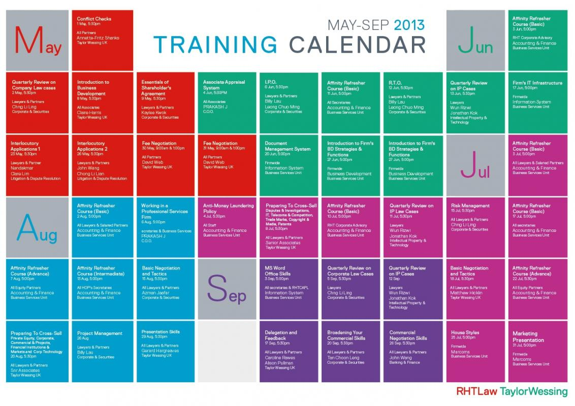 Amazing Training Schedule Template