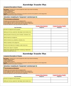 transition plan template role transition plan template