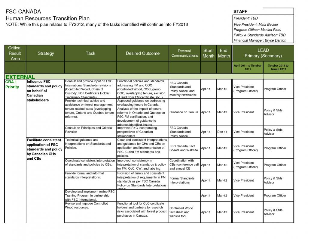 contract transition plan template - transition plan template template business