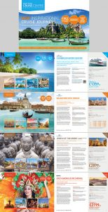 travel itinerary examples travel brochure design