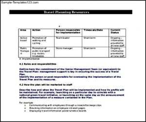 travel itinerary examples business travel plan free document