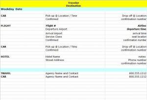 travel itinerary examples itinerary x