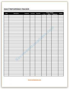 travel planner template trip expenses tracker