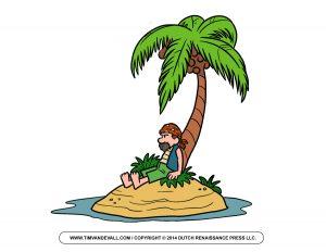 treasure report template pirate on island clip art
