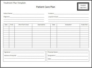 treatment plan template treatment plan template