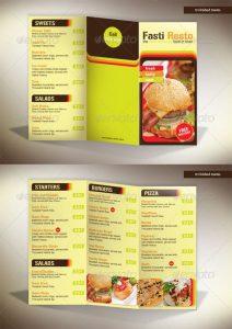 tri fold menu tri fold menu fasti resto