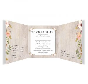 tri fold wedding invitations rustic horizon tri fold invite inside