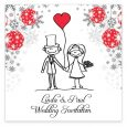 tri fold wedding invitations stick couple xmas flat invite